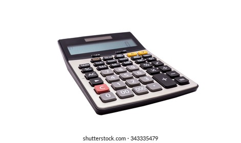 The black calculator isolated