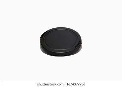 Black camera front cover on a white background