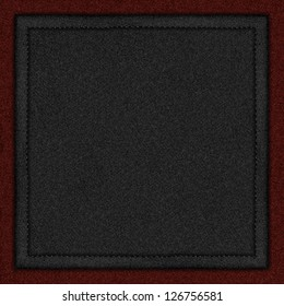 black canvas background with seam on red rough texture