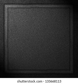 black canvas square background or grey textile texture