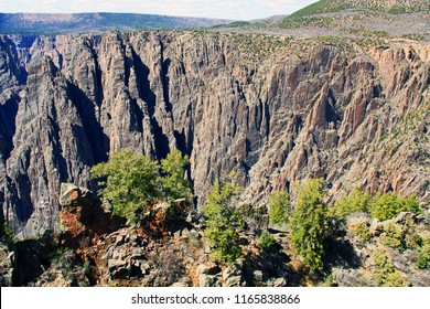 Black Canyon of the Gunnison National Park and recreation area at Gunnison Point, near Montrose, Colorado, USA.