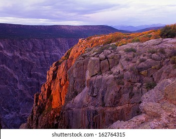 Black Canyon of the Gunnison National Park, CO./Black Canyon/Fast moving water enables the river to erode tough rock quickly creating a deep canyon with sheer drop off edges.