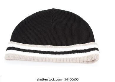 Black cap isolate on white