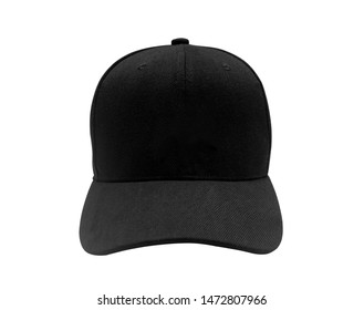 Black cap isolated on white background