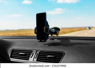 black Car smart phone holder