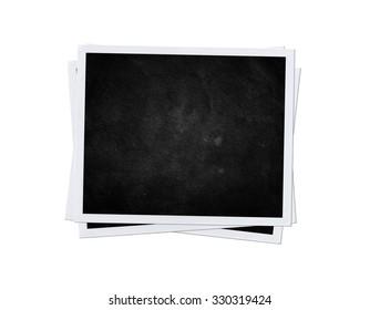 black card isolated. Photo frame. Imitation polaroid style
