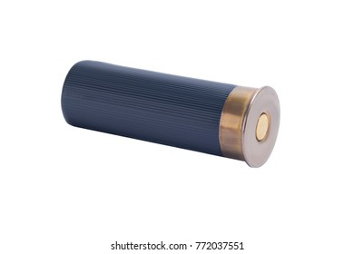 black cartridge for hunting rifle on white background