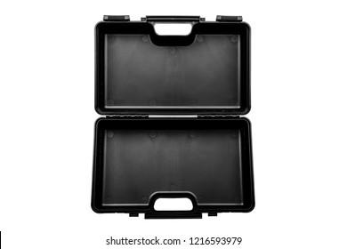 Black case for guns isolated on white background