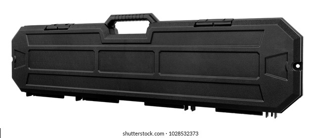 Black case for guns isolated for white background