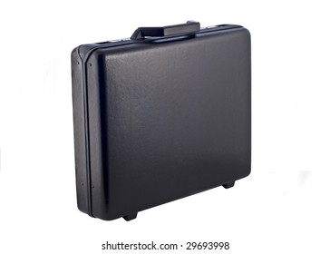 Black case isolated on the white