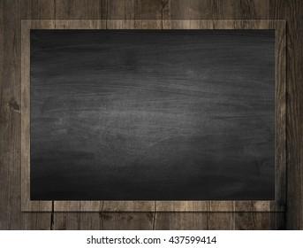 Black chalkboard. Background