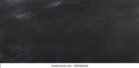 black chalkboard cleaned of chalk, blackboard background for text