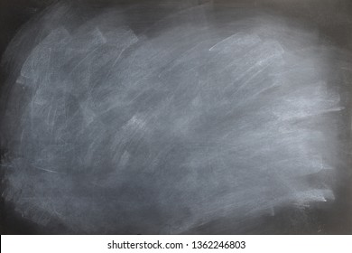Black chalkboard texture with smudged and smeared  eraser marks.