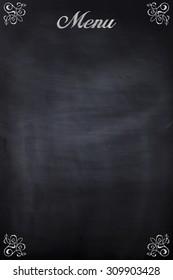 a black chalkboard used as a menu