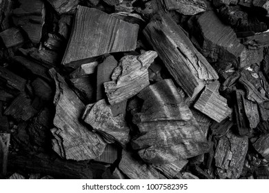 black charcoal, background, close-up. Black charcoal background. Coal texture, view from above. Abstract black charcoal. Textures background.
