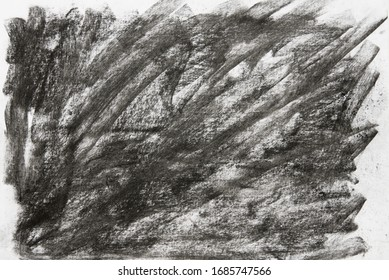 black charcoal crayon background texture on paper