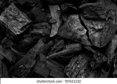 Black charcoal texture background.selective focus