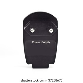 Black charger adapter. Accessory.