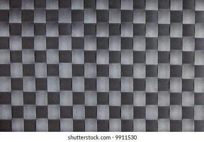 Black checkerboard fabric texture