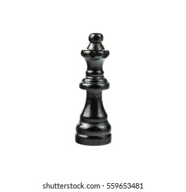 Black Chess Figure on White - Queen
