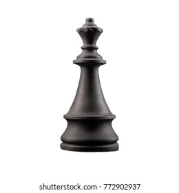 black chess piece white plaster on a white background