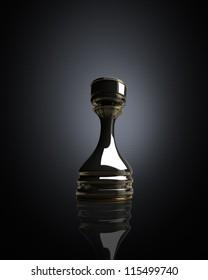 Black chess rook background 3d illustration. high resolution