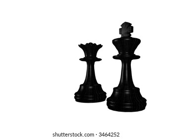 Black chessmen - a queen and king