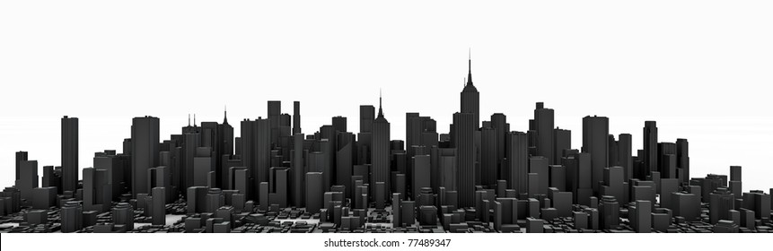 Black city panorama