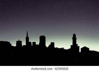 black city silhouettes