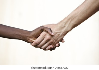 Black Civil Rights Symbol: Multi-Ethnic Handshake Africa