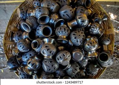 Black clay ceramics of San Bartolo Coyotepec, Oaxaca