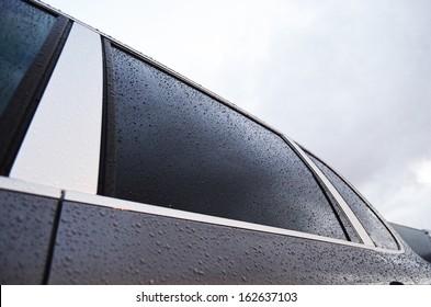 Black clean tint window