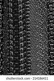 black cloth as background. close-up