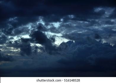 Black cloud storm