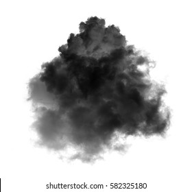 black clouds on black background