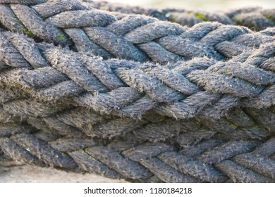 Black coarse rope