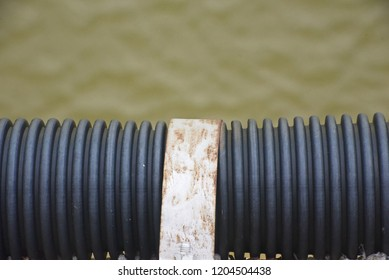 Black coaxial cables cover isolated object unique photo