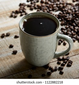 Black Coffee with beans