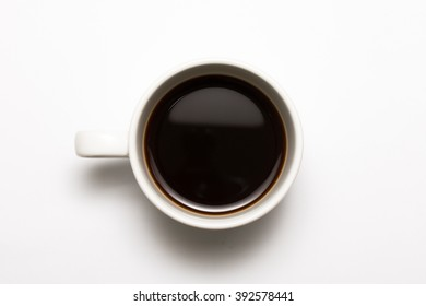 Black coffee cup on the white background