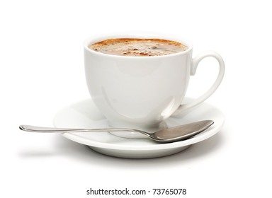 Black Coffee. Isolated on white