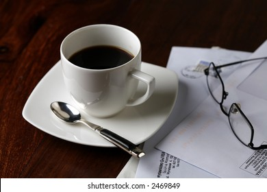 black coffee in the morning