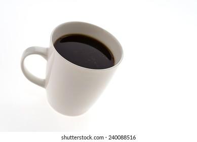 Black Coffee mug isolated on white background