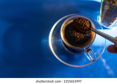 black coffee Reflection Light