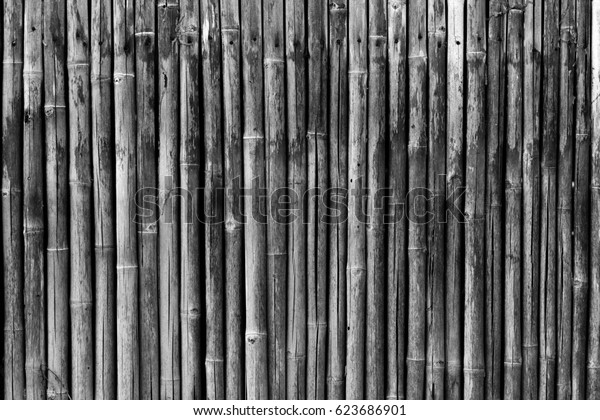 Black Color bamboo fence background