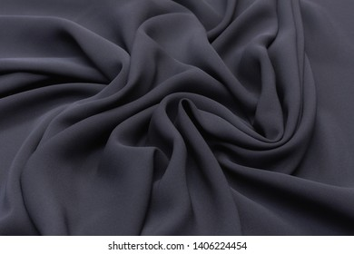 Black color cadi silk fabric