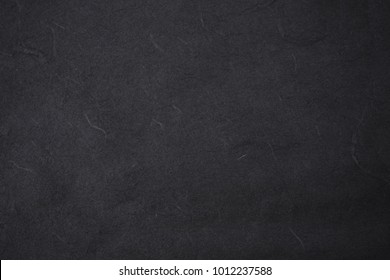 black color mulberry paper texture and background