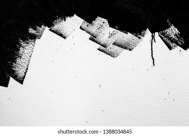 Black color on the foam sheet texture background