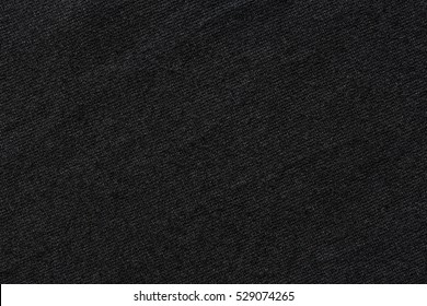 Black color t-shirt texture, stretch fabric background