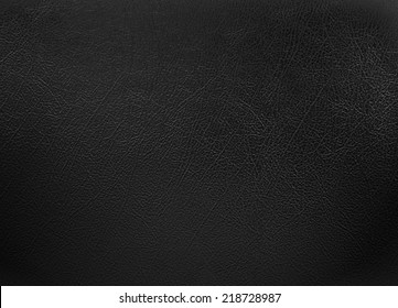 Black colored leather texture background