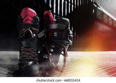 Black Colored Pair Of Outdoor High Heels